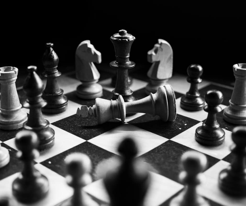 chess pieces on board - outsmart competition with marketing