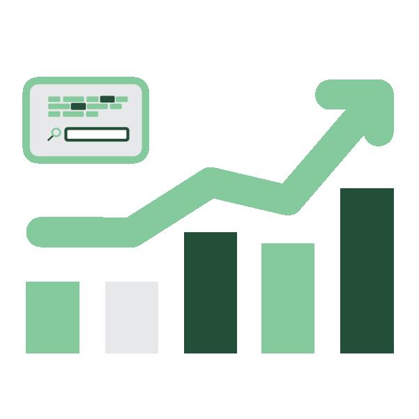 Search Engine Optimization Arrow Rising Statistics